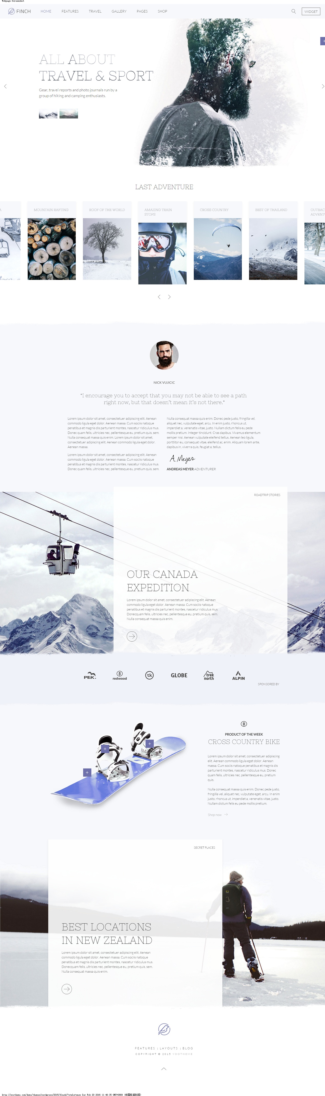 Finch Theme » Just another WordPress site