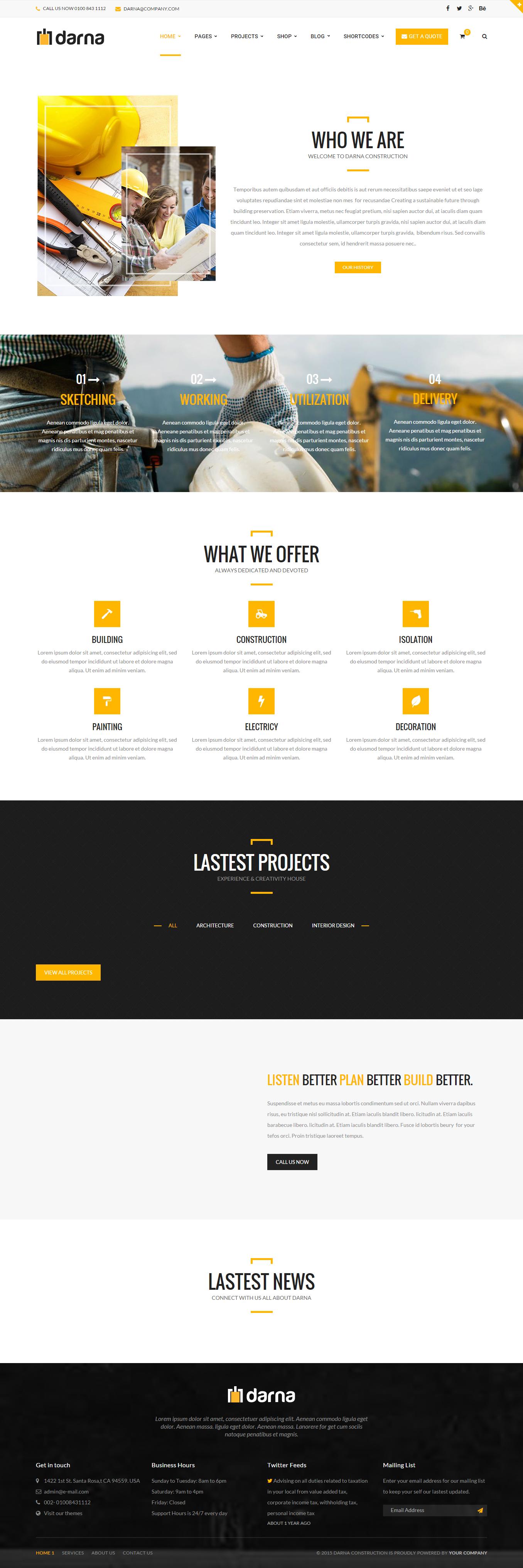 Darna _ Construction & Building WordPress Theme