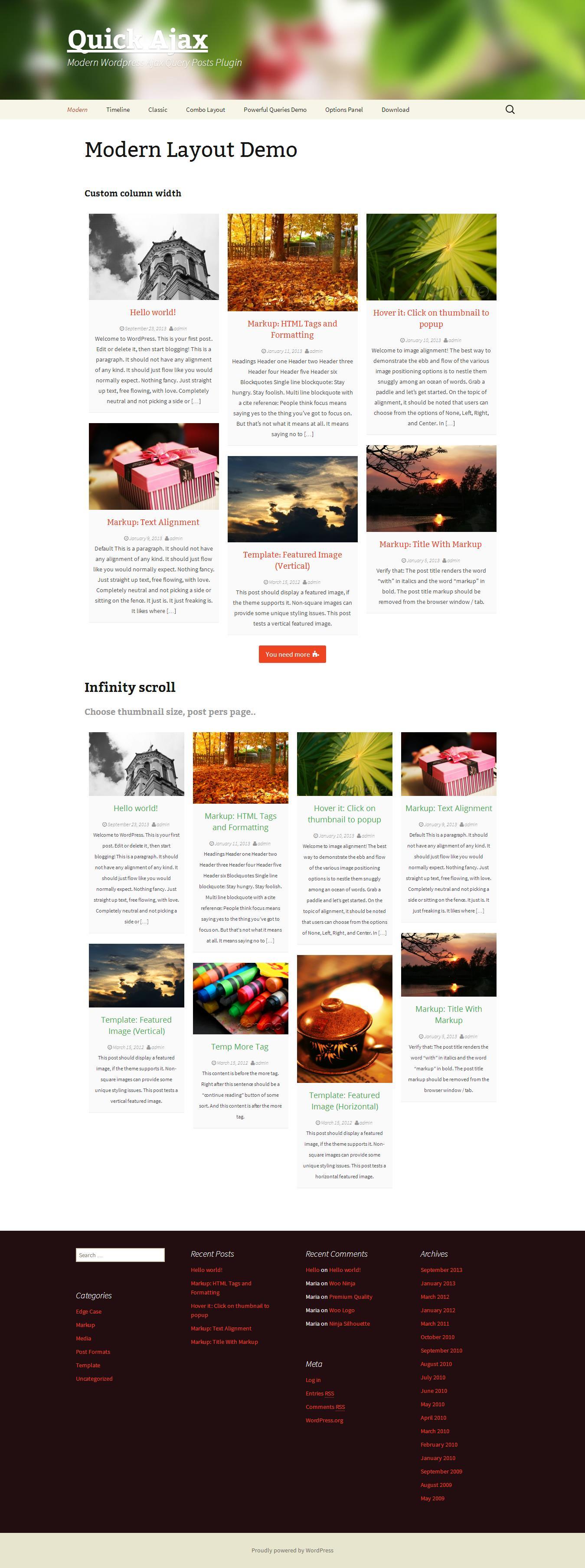Quick Ajax _ Modern WordPress Ajax Query Posts Plugin